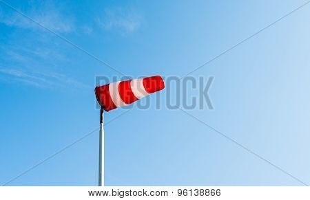 Red And White Striped Windsock