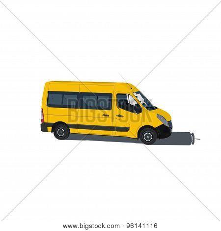 Taxi and transportation van