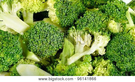Close Up Fresh Broccoli Background Texture