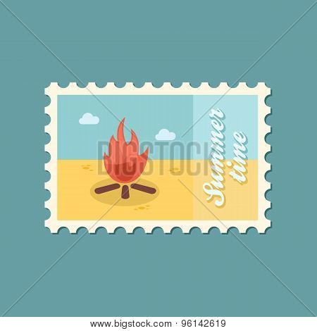 Bonfire Flat Stamp