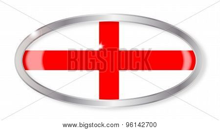 England And Saint George Oval Button