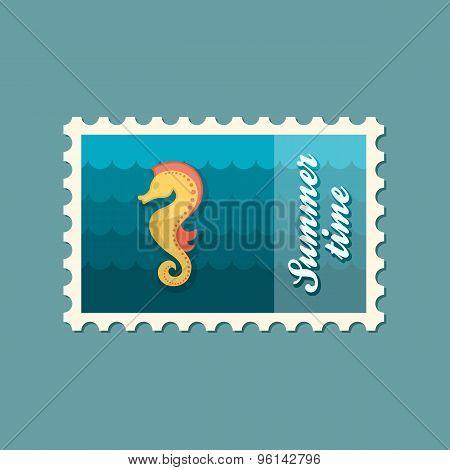 Sea Horse Flat Stamp