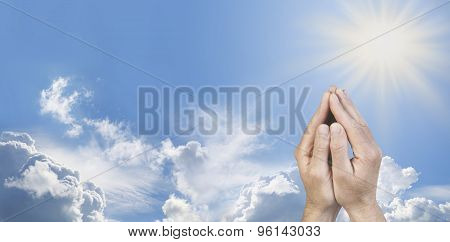 Cupped Hands in Prayer Position