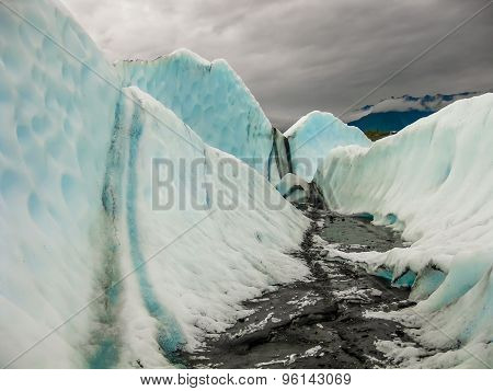 Glacier melting