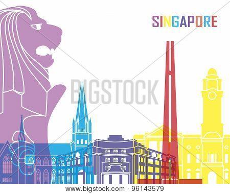 Singapore Skyline Pop