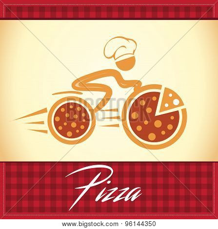 Delivery Traditional Italian Pizza Logo