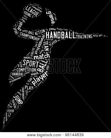 Handball Pictogram On Black Background