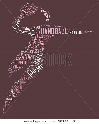 Handball Pictogram On Pink Background