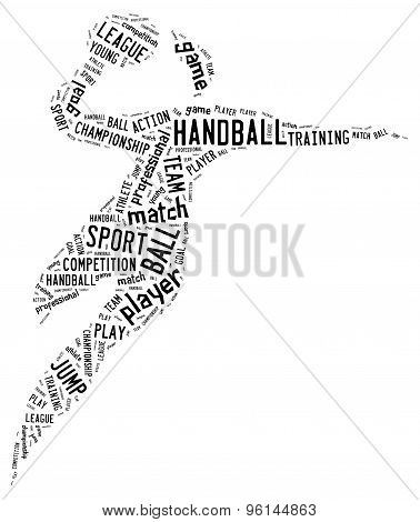 Handball Pictogram On White Background