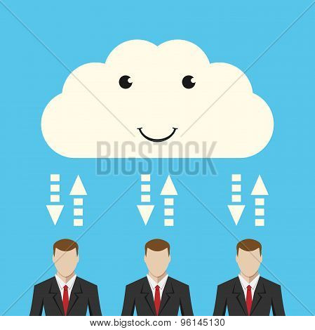Cloud And Businessmen