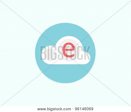 Web cloud business icon. Web, storage, creative and teamwork. Vector stock illustrations for design.