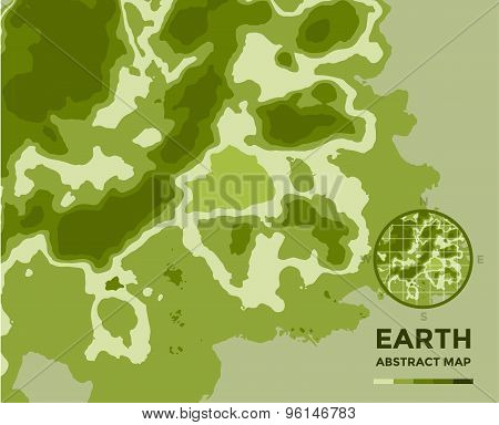 Global Earth vector Map on background. Texture, Island or Surface and Height symbol. Stock design el