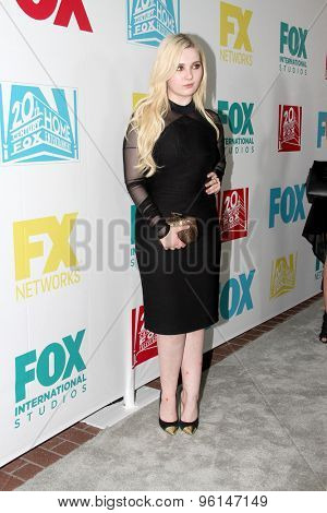 SAN DIEGO, CA - JULY 10: Abigail Breslin arrives at the 20th Century Fox/FX Comic Con party at the Andez hotel on July 10, 2015 in San Diego, CA.