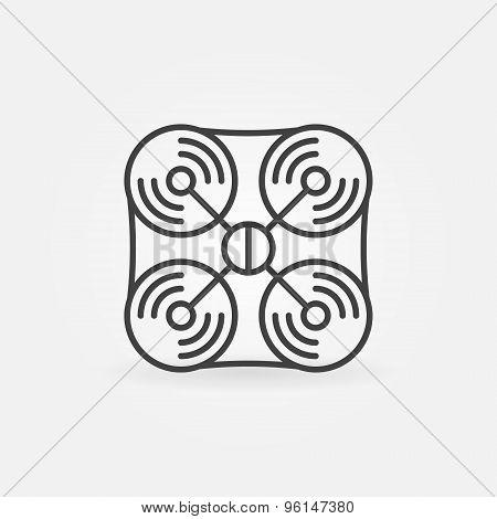 Drone icon or logo
