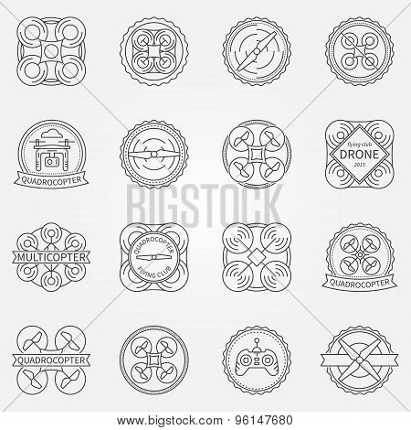 Drone labels or badges