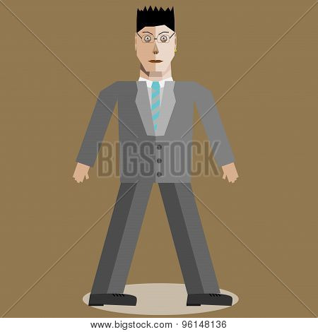 Geometric Businessman