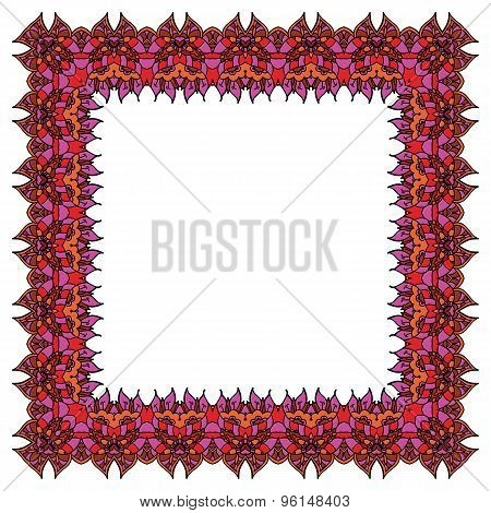 Vector Ornamental Colorful Frame