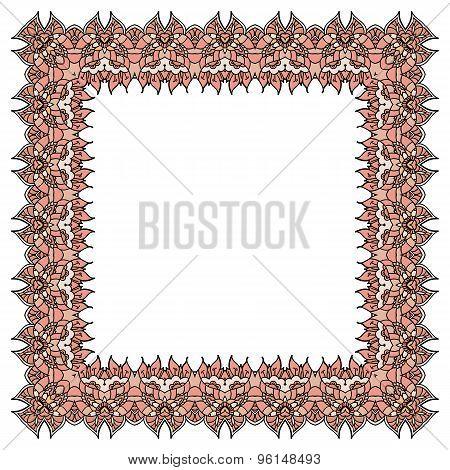 Vector Ornamental Soft Pink Frame