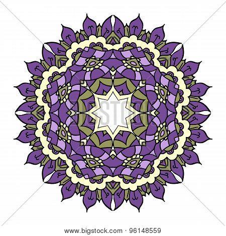 Purple vector mandala