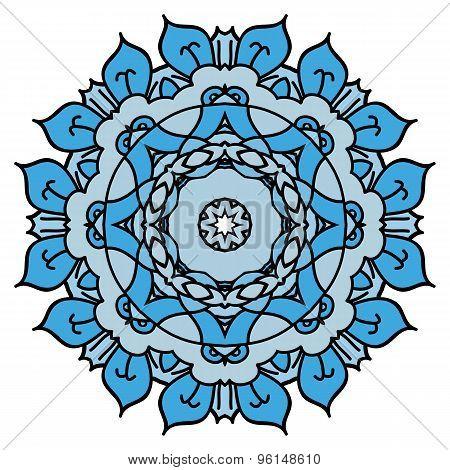 Soft Blue Vector Mandala