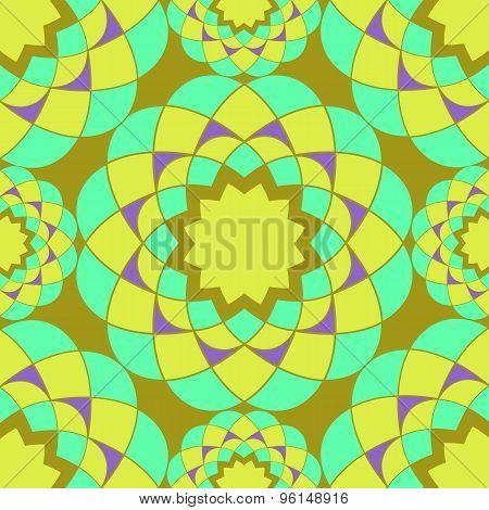 Bright Mosaic Vector Seamless Pattern