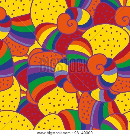 Bright Colorful Vector Seamless Pattern