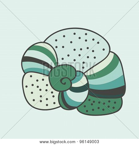 Soft Green Abstract Seashell