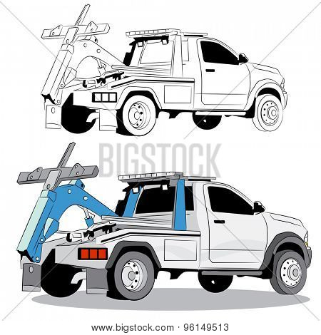 An image of a tow truck.