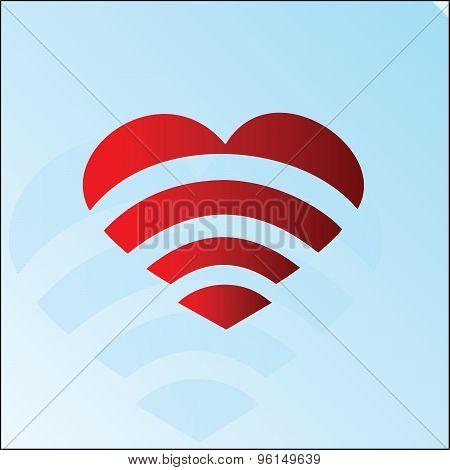 Heart Wi-Fi symbol