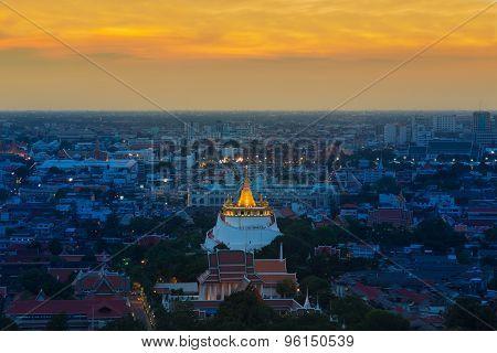 Golden Mount Temple in Bangkok
