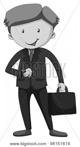 Businessman in suit carrying a briefcase