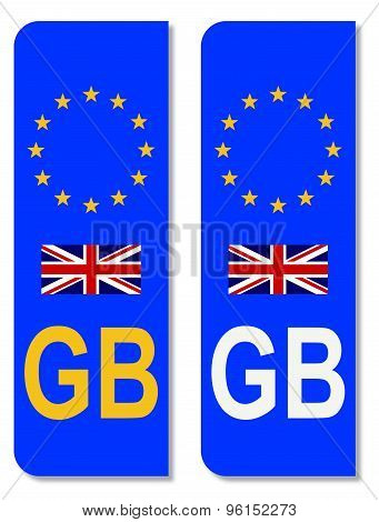 E.U. Number Plate Identifier For Great Britain