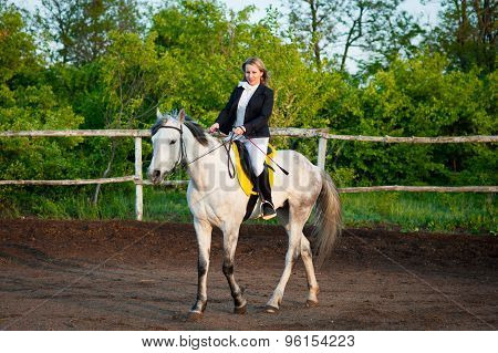 Horsewoman At Hippodrome