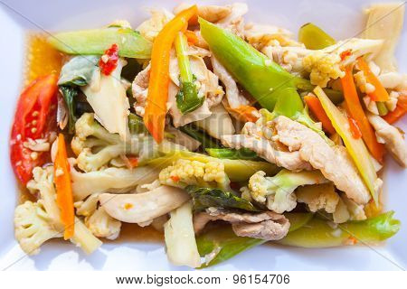 Vegetable Food In The Plate.