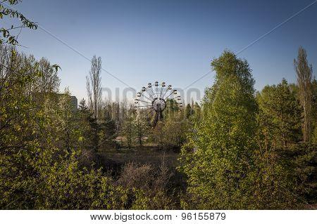 Ferris Wheel In Amusement Park In Pripyat