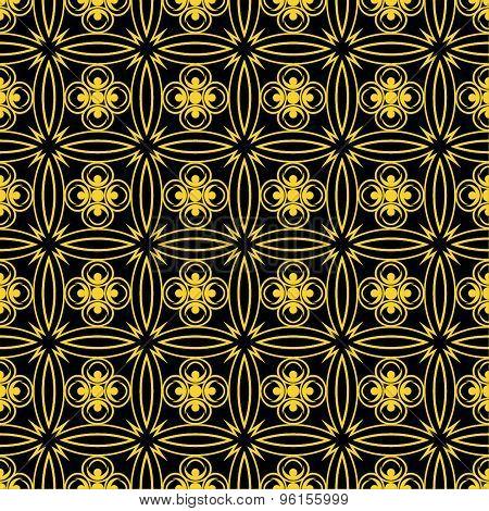 Seamless golden pattern