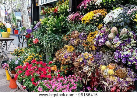 Flowers Outside Of Flower Shop