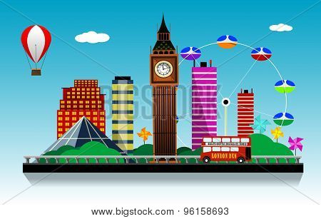 London  city vector background.