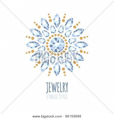 Elegant gemstones vector jewelry decoration.