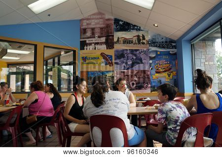 Diners at BZ Red Hots