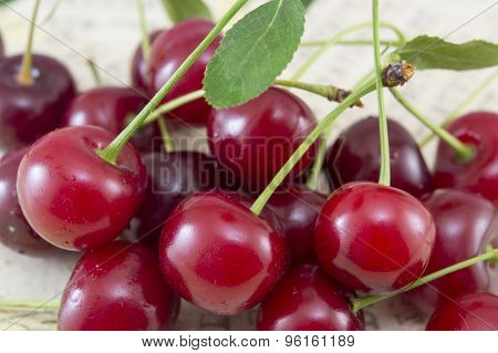 Bunch Of Cherries On A Table