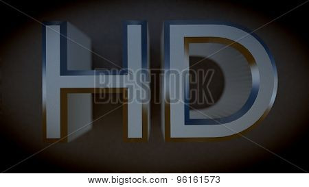 High Definition HD 3D Metal Letters