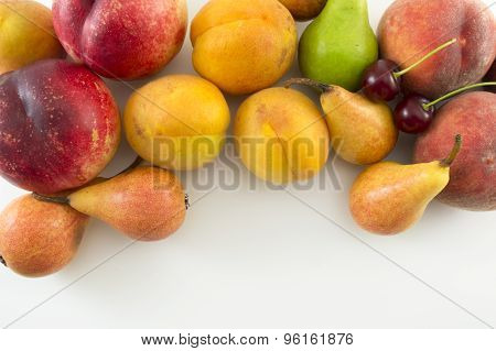 Fresh Fruit Background With Copyspace