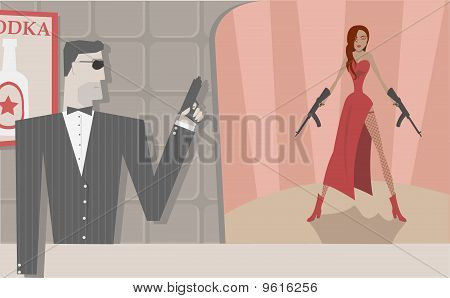 Vector Secret Agents