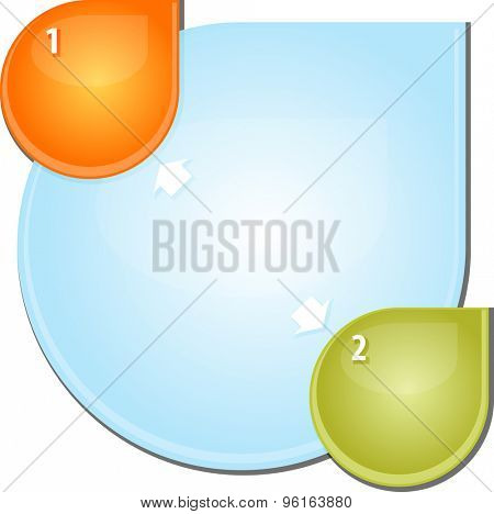 blank business strategy concept diagram illustration outward direction arrows two 2