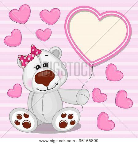 Polar Bear With Heart Frame