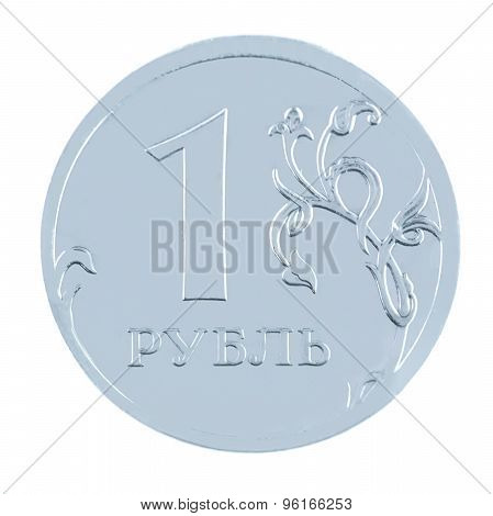One ruble coin