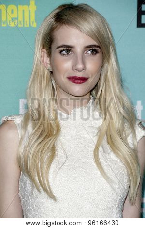 SAN DIEGO - JUL 11:  Emma Roberts at the Entertainment Weekly's Annual Comic-Con Party at the FLOAT at The Hard Rock Hotel  on July 11, 2015 in San Diego, CA