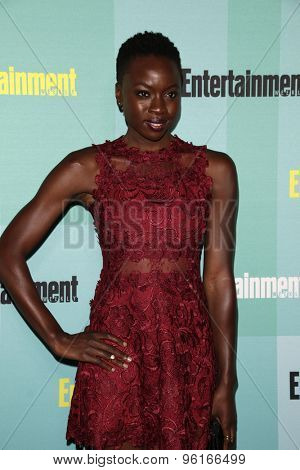 SAN DIEGO - JUL 11:  Danai Gurira at the Entertainment Weekly's Annual Comic-Con Party at the FLOAT at The Hard Rock Hotel  on July 11, 2015 in San Diego, CA