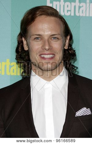 SAN DIEGO - JUL 11:  Sam Heughan at the Entertainment Weekly's Annual Comic-Con Party at the FLOAT at The Hard Rock Hotel  on July 11, 2015 in San Diego, CA